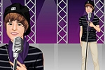 igrice za decu Justin Bieber in Concert Dress Up Game