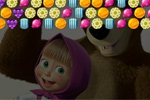 puzzle igrice Masha and the Bear: Candy Shooter