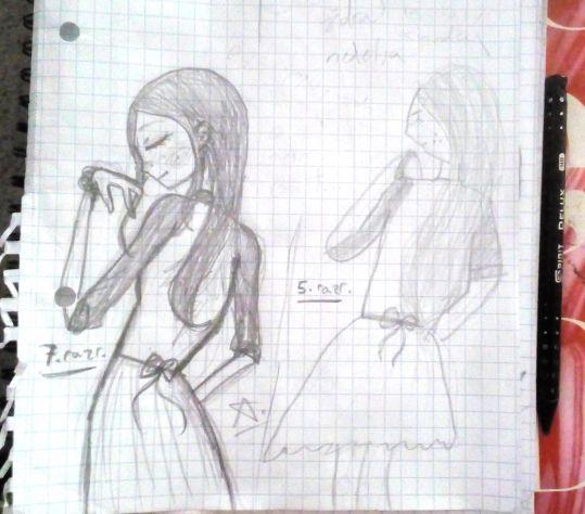 desno : 2 god. ranije crtež // levo : isti crtež danas. (pih, menidosadno)