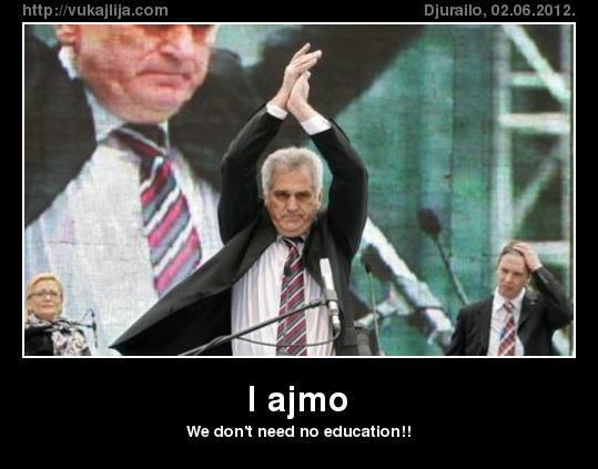 WE DONT NEED NO EDUCATION!